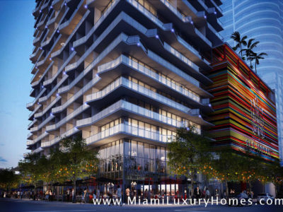 SLS Brickell Condo Tower in Brickell/Downtown Miami, Florida
